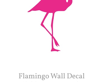 Flamingo Wall Decal, Flamingo Wall Sticker, Flamingo Wall Art, 10,6'' x 15,2'', Baby Girl Gift for Nursery, Gift for Her, House warming Gift