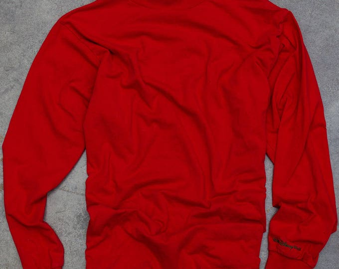 Vintage Disney Christmas Turtleneck | Red Mock Turtle Holiday Top 6CA