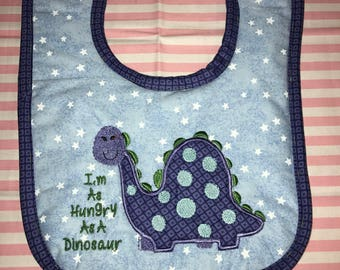 Baby Bib -- Hungry Alligator!