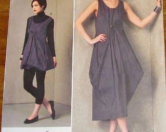 Easy American Designer Liz Mizono Sewing Pattern Vogue 1410 Women Miss Dress Size 14 16 18 20 22 Bust 36 38 40 42 44 46 Uncut Factory Folds