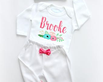 Personalized baby girl clothes and baby boy clothes by sassylocks newborn girl coming home outfit newborn girl outfit baby girl personalized baby clothes baby custom baby negle Image collections