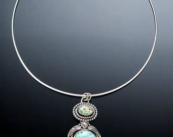 Feather Frenzy - Turquoise Necklace