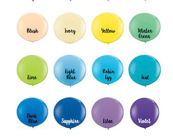 """New Colors! - 36"""" Latex Balloons, Giant Balloons, 3' Balloons, Event Balloons, Jumbo Balloons 