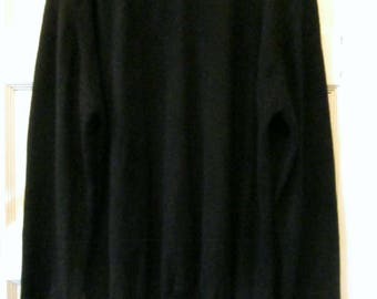 Men's Black Cashmere Sweater L