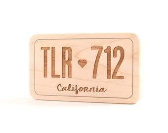 Personalized wooden toys natural wood baby toys by smilingtreetoys license plate wooden toy personalized teething toy safe and natural organic baby gift negle Image collections