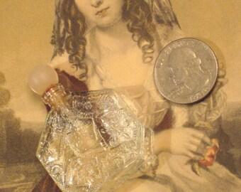 Vintage Miniature Glass Perfume Bottle