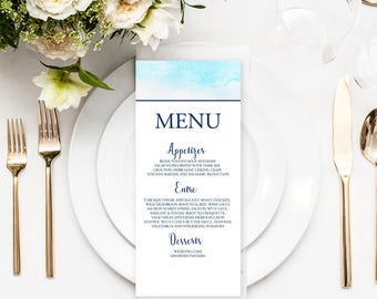 Menu Cards, Reception Menus, Party Menus - Country Meadow (Style 13653)