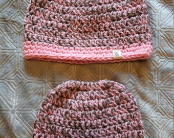 Mommy and Me Matching Bun Beanie Set