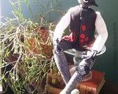 Painted Redstart Art Doll, Songbird, Folk Art Doll, Warbler Art, Desert Animal, Nature Lover Gift, Bird Lover Gift, Fairytale Art