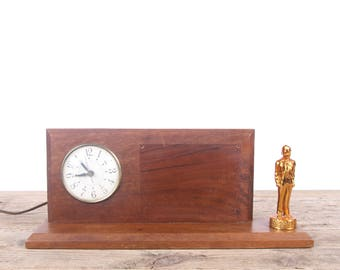 Vintage Wood Scout Clock / Wood Boy Scout Clock / Boy Scout Collectible / Boy Scout Decor / Vintage Clock / Old Clock
