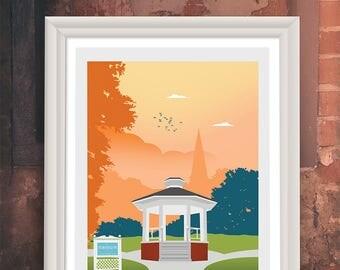 Stars Hollow Gilmore Girls Travel Poster - Retro Travel Print - Print Movie Poster - Minimalist, Graphic Design, Art Print, Movie Poster