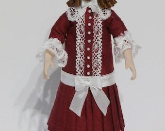 Dolls House Doll SHANICE- OOAK Handmade 1/12 scale Porcelain Girl Doll