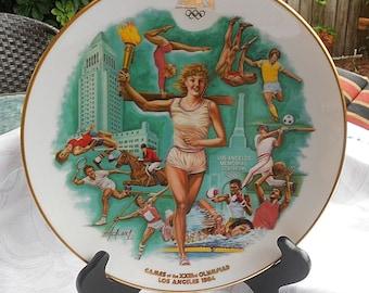 Olympics 1984 Commemorative Plate