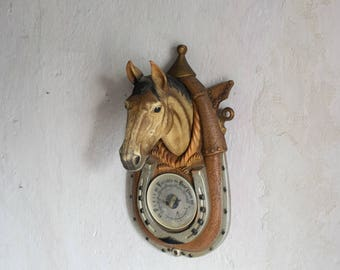 Vintage 1970 Faux Taxidermy Horse Mount // Cabin or Ranch Wall Decor  // Cruelty Free