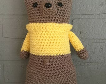 READY TO SHIP - Snuggle Teddy Bear - Teddy Bear - Amigurumi Teddy Bear