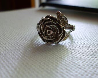Sterling Silver Rose Flower Ring