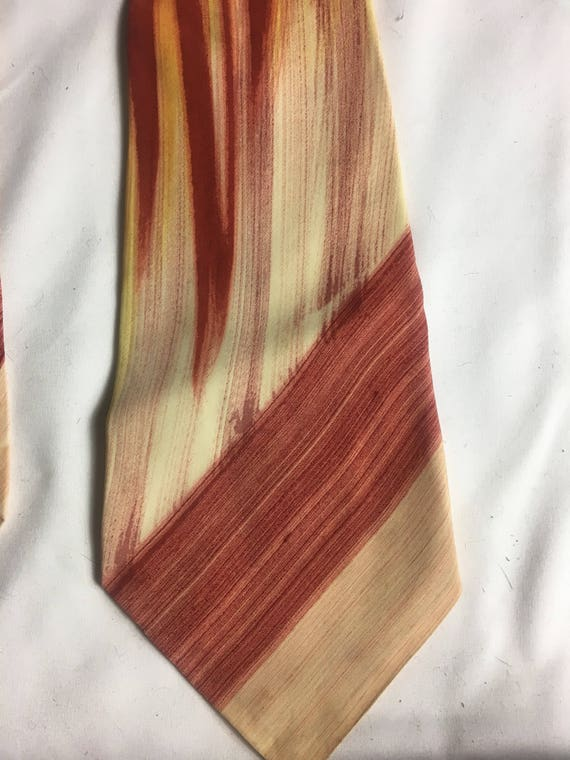 1940s Rayon Hand Painted Wide Tie by Windsor of California