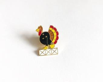 C. Sanders Vintage Enamel Bowling Award Turkey Lapel Pin