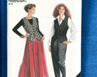New Look 6146 Fitted Vest Flared Skirt & Tapered Leg Pants Size 14 to 22