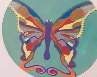 Hand Painted Butterfly Plaque