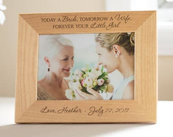 Custom Engraved Mother of the Bride Picture Frame: Mother of the Bride Gift, Personalized Mother of Bride, Bride's Mom, SHIPS FAST