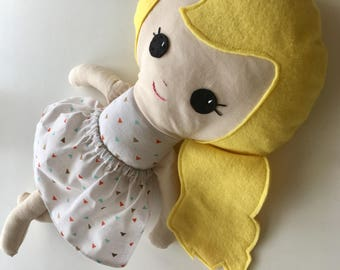 "Ready To Ship Handmade Doll - 18"" Handmade Girl Doll - Girl Doll - Blonde Doll - Birthday Gift"
