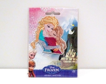 Elsa and Anna Licensed Frozen Patch in Sealed Package Sisters Embroidered Satin Applique Disney Simplicity Sewing Crafting Projects Movie