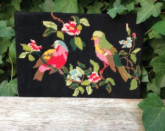 Vintage birds and flowers tapestry