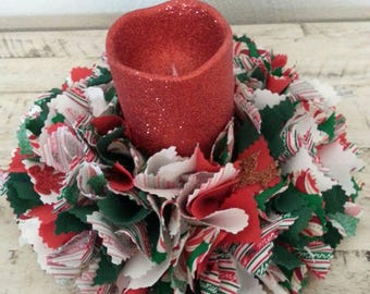 Christmas Candle Wreath, Christmas Candle Centerpiece, Christmas Candle Holder, Candle Wreath, Table Wreath, Christmas Centerpiece, Candles