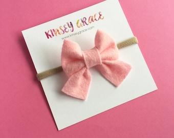 Pink Baby Bow, Sailor Bows, Baby Girl Headband, Baby Headband, Schoolgirl Bow, Newborn Baby Bows, Baby Hair Bows, Girls Hair Clips, Headband