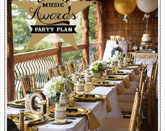 PARTY PLAN: Country Music Awards Karaoke Party Plan - Karaoke Party Plan - Karaoke Party - Country Music Party - Awards Show Party