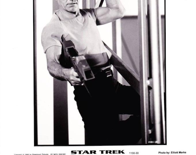 Vintage Patrick Stewart In Star Trek Insurrection 1998 Movie Promotional Photograph Black & White