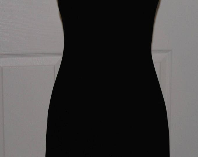 Little Black Party Dress by Hugo Buscati 1990's SZ 2