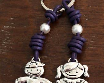 Keychain couple of children