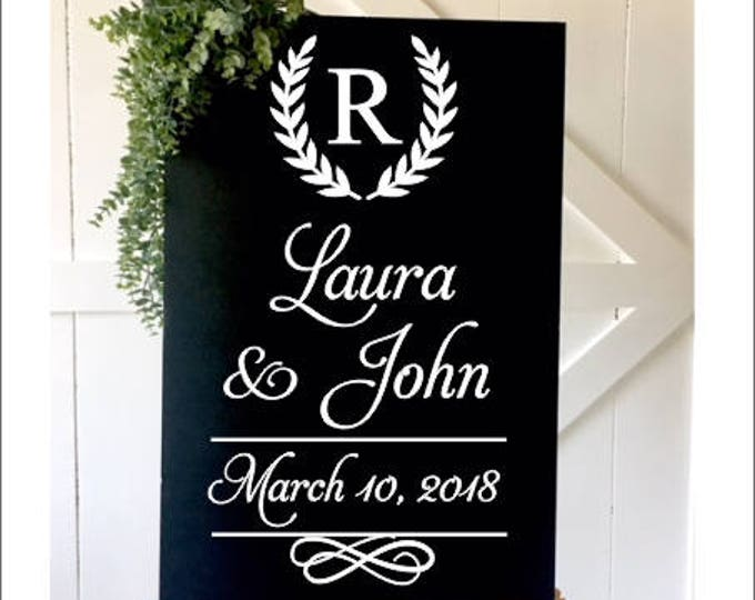 Wedding Decal Vinyl Decal for Wedding Sign Decor DIY Lettering for Chalkboard or Mirror Vinyl for Wedding Formal Wedding Decal Various Sizes