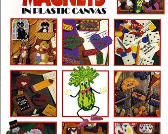 300 Magnets in Plastic Canvas Pattern Book Leisure Arts Soft Cover Book #1807