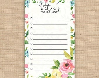 Personalized Notepad // Custom Notepad // To Do List // Lined To Do List // Available in 3 sizes - 3.4 x 5.75 in \ 5.5 x 8.5 in \ 8.5 x 11