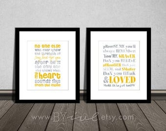 Reserved. You are BRAVER and No one else, nursery quotes, Like silver and dark yellow. Downloadable. Print it yourself.