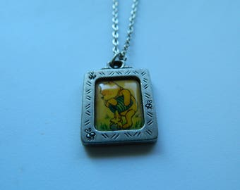 Disney Winnie The Pooh Necklace, Vintage Winnie The Pooh Necklace, Pooh Bear Necklace