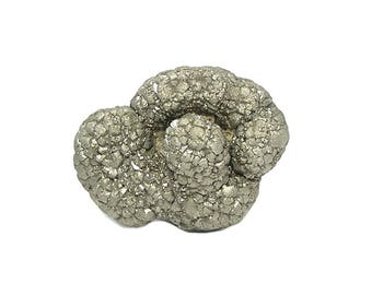 Pyrite Fool's Gold Golden Crystalline Cluster Turban from Texas Natural Mineral Specimen