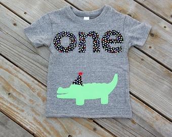 Party Animal First Birthday Shirt, Alligator Party Theme Shirt, First Birthday Shirt, Party Animal Shirt, Crocodile Party, Polka Dot Party