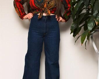 Vintage Seafarer Wide Leg High Waisted Jeans