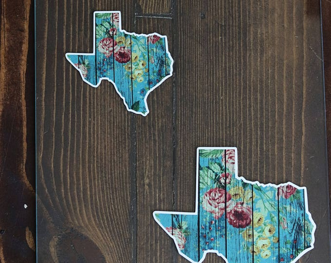 Shabby chic Floral Texas decal stickers