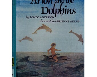 Greek mythology book Arion and the Dolphins, Adrienne Adams illustrations, ancient Greek legend, ancient Greece, Greek myth, Greek myths