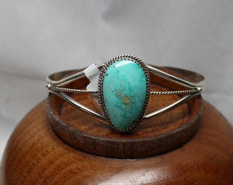 Sterling Silver and Kingman Turquoise Bracelet