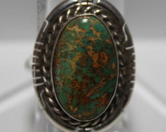 Turquoise Mountain Turquoise and Sterling Silver Ring
