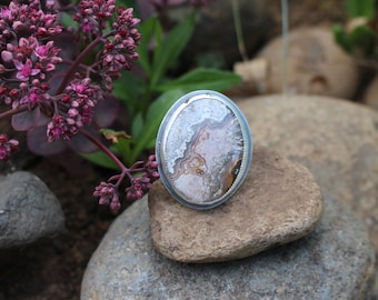 Crazy Lace Agate Focus Ring