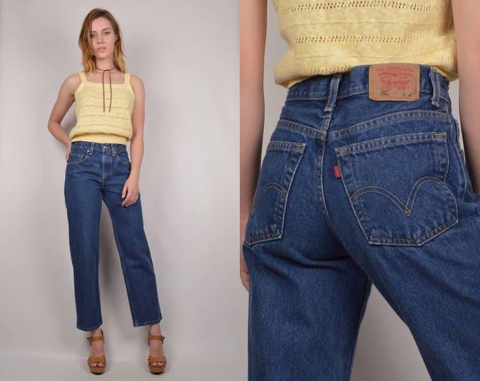 Levi's Student 550 Mid Rise Blue Jeans
