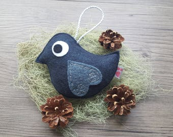 Navy Blue Bird, Eco Friendly Felt, Woodland Art, Cool Kids Room Ideas, Creative Interiors, Summer Finds, Cute Embroidery, Wedding Decor