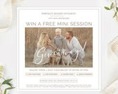 Photography Giveaway Template, Photography Marketing Template Photoshop, Mini Session Template, Photography Advertising Template Organic